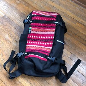 Ethnotek 20 Liter Travel Daypack Red India Textile
